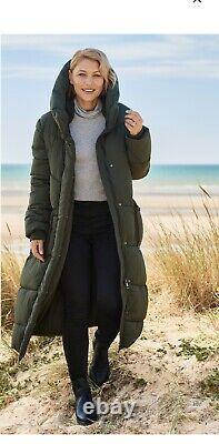BNWT Next Emma Willis Long Puffer Padded Jacket Coat Khaki SIZE 12 regular