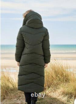 BNWT Next Emma Willis Longline Padded Khaki Duvet Coat Size 12 SOLD OUT