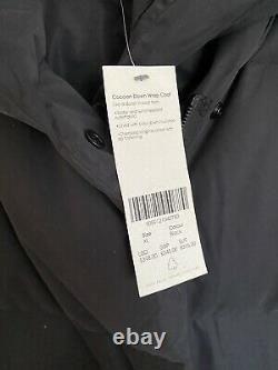 BNWT Sweaty Betty Cocoon Wrap Coat Jacket Black Size XL Puffer Padded Long