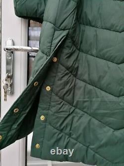 BNWT Womens Barbour International Lineout Long Quilted Coat Green UK1216 rrp£239
