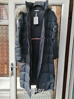 BNWT Womens Tommy Hilfiger New Tyra Down Maxi Parka Coat M Blue rrp£270