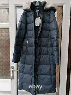 BNWT Womens Tommy Hilfiger New Tyra Down Maxi Parka Coat S M XL Blue rrp£270