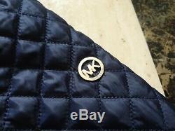 BNWT womens MICHAEL KORS quilted hood long jacket coat size L uk 14-16 RRP £280