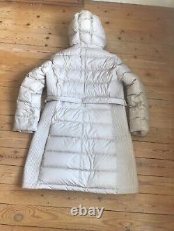 BURBERRY BRIT XL UK 16 Midi Down Puffer Coat Jacket Cream Long Hood