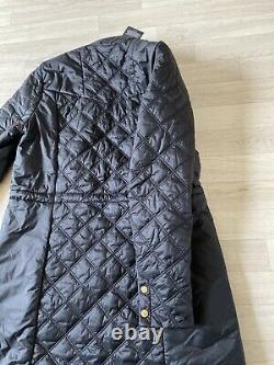 Barbour Coat Ladies Barbour Jacket Long Black Backline Coat UK16 XL Trench Coat