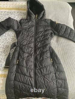 Barbour International Lineout Long Quilted Coat, Black 14 RRP £239