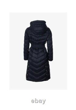Barbour International Lineout Long Quilted Coat, Black Size 10 RRP £239