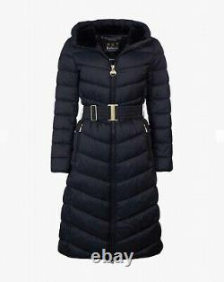 Barbour international longline uk10 puffer jacket RRP £240 quilted coat, womens S