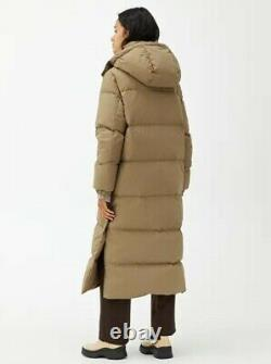Beige ARKET Long Down Puffer Coat Size Medium