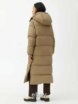 Beige ARKET Long Down Puffer Coat Size Small