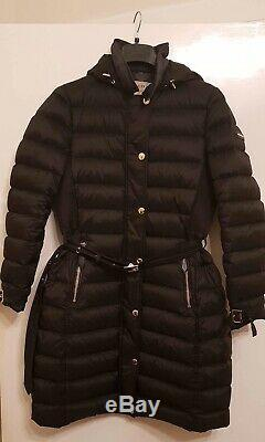 Black Burberry Womens Long Puffa/puffer Coat