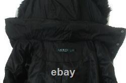 Bnwt Ralph Lauren Women Black Quilted Long Down Coat Jacket Size S Rrp £355