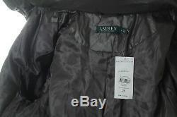 Bnwt Ralph Lauren Women Grey Quilted Long Down Coat Jacket Size L Rrp £355