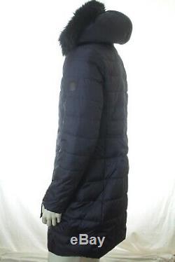 Bnwt Ralph Lauren Women Navy Quilted Long Down Coat Jacket Size L Rrp £355