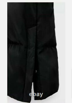 Bnwt Stunning Zara Extra Long Down Black Puffer Padded Coat Jacket Sold Out