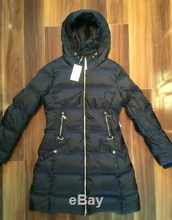 Bogner Caria-D Long Down Quilted Jacket Coat Black Womens SZ 10 MSPR $1,590 NWT