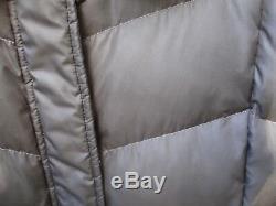 Bogner Fire+ice Brown Down Puffer Mock Neck Zip Snap Front Long Coat Women's 10