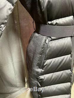 Burberry Black Fur Long BeltedPuffered Coat(8)