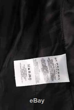 Burberry Black Patent Leather Quilted Long Sleeve Belted Trench Coat