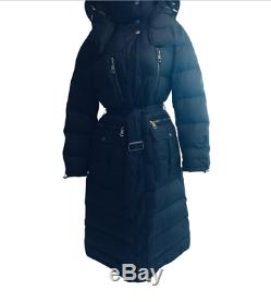 Burberry Brit Full Length Puffer Coat X-Large NWOT New Black Hooded Jacket $1695