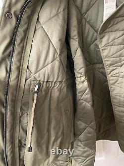 Burberry Diamond Quilted Olive Green Puffer Long Coat Size L