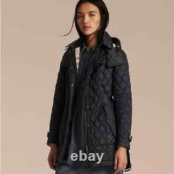 Burberry Finsbridge Long Quilted Black Jacket NWT L (Large) 100% Authentic
