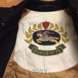Burberry London Black Long Pea Trench Womens Heritage Chelsea Alpaca Size 14