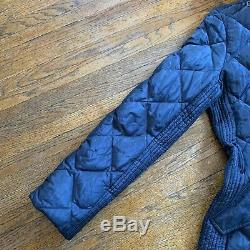 Burberry London Hooded Quilted Puffer Trench Coat Down Jacket Womens Size Medium