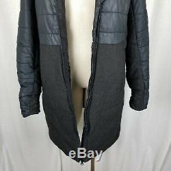 Burton Quilted Wool Hooded Winter Long Parka Ski Long Jacket Coat Womens L Black