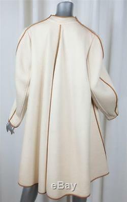 CHLOE Womens Ivory Quilted Knit Long-Sleeve Open Wrap Coat Jacket S/M