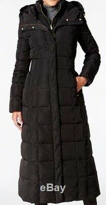 COLE HAAN WOMEN'S LAYERED MAXI LONG COAT PUFFER DOWN/FEATHER FILL sz S NEW
