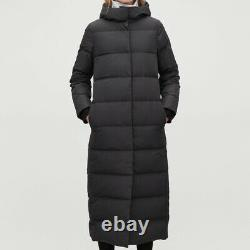 COS hooded long puffer coat down size 42