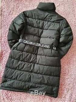 Calvin Klein Jeans Long Puffer With Waist Belt Size M