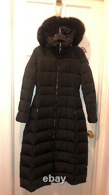 Calvin Klein long down puffer quilted coat S