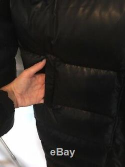 Calvin klein Long Padded Black Coat Xs Warm Winter Puffer Jacket Quilted