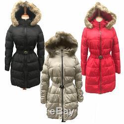 Coach Women's 83284 Legacy Long Down Winter Puffer Jacket Coat with Fur Hood