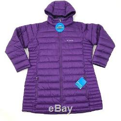 Columbia Womens Frosted Ice Long Puffer Jacket 1X Plus Quilted Purple Coat