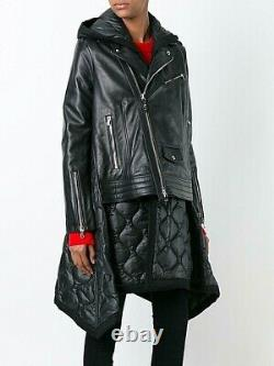 Diesel Women's Leather Jacket Coat Biker Style Quilt Design Size Small Now £400