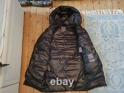 Duvetica Long Shiny Black Down Puffer Jacket Coat Size 40