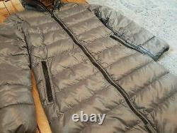 Duvetica Long Shiny Grey Down Puffer Jacket Coat Size 40