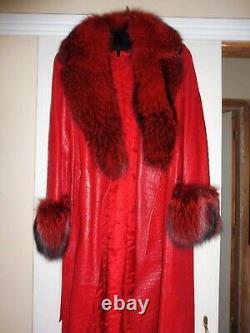 ESCADA Leather and Fur Coat