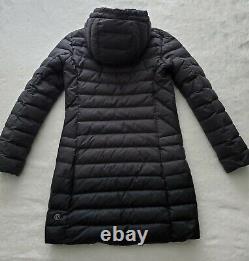 EUCLululemon 1X A LADY JACKET 650 Fill Down Long Puffer Parka Black Coat Size 6