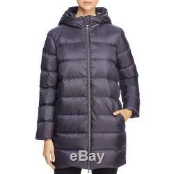 Eileen Fisher Womens Winter Printed Long Puffer Coat Outerwear BHFO 3615
