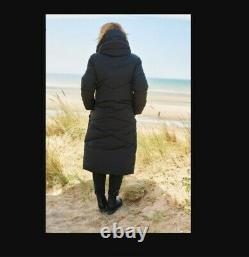 Emma Willis NEXT Size 6/8 Black Padded Longline Coat BNWT Petite