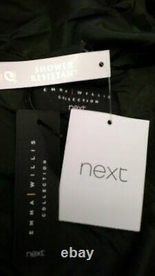 Emma Willis Next 14 Regular Khaki Duvet Pad Shower Resist Long Coat Jacket Bnwt1