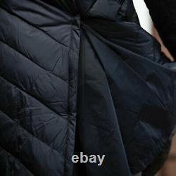 Equetech Inferno Long Quilted Coat HEATED 3 Levels Navy Padded RRP £195