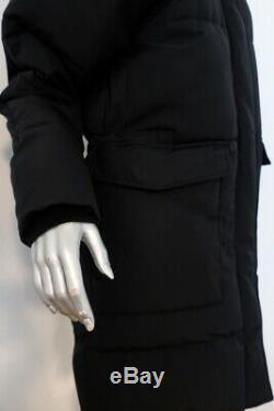 Everlane ReNew Long Puffer Jacket Black Size Medium Hooded Coat