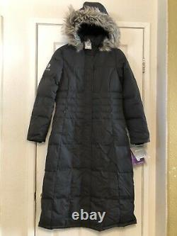 FREE COUNTRY Power Down Series Womens Long Black Hooded Winter Parka Coat Sz XL
