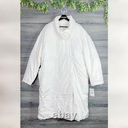 FREE PEOPLE NWT Vanilla Cream Downtown Duvet Puffer Coat Jacket Size M Medium