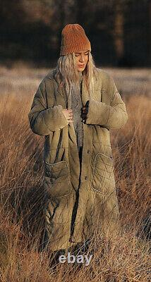 Free People Dolman Duvet Coat Duster Pine Slumber Army Green Size M Sold Out